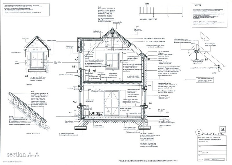 Lancaster associates chartered architects residential for Construction plan drawing